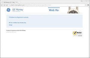 ...a na závěr nám i poděkuje! Potom nás přesměruje na oficiální stránky banky.